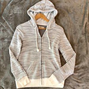 Hollister zipper up hoodie
